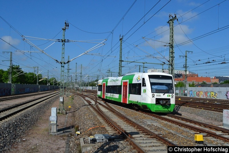 VT 317 (650 256-0) bei der Einfahrt in Erfurt Hbf.