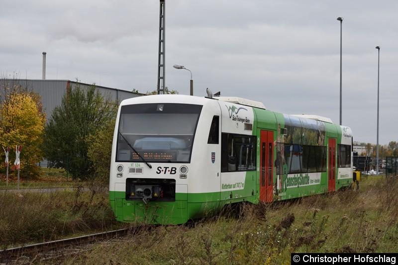 VT 124 Abgestellt in Erfurt Ost.
