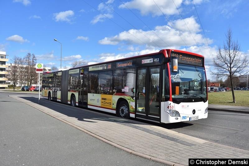 Wagen 453 als Linie 111 am Europaplatz