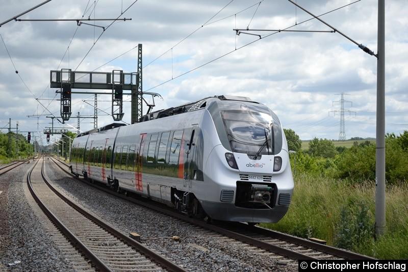 9442 620-2 bei der Ausfahrt in Erfurt-Vieselbach