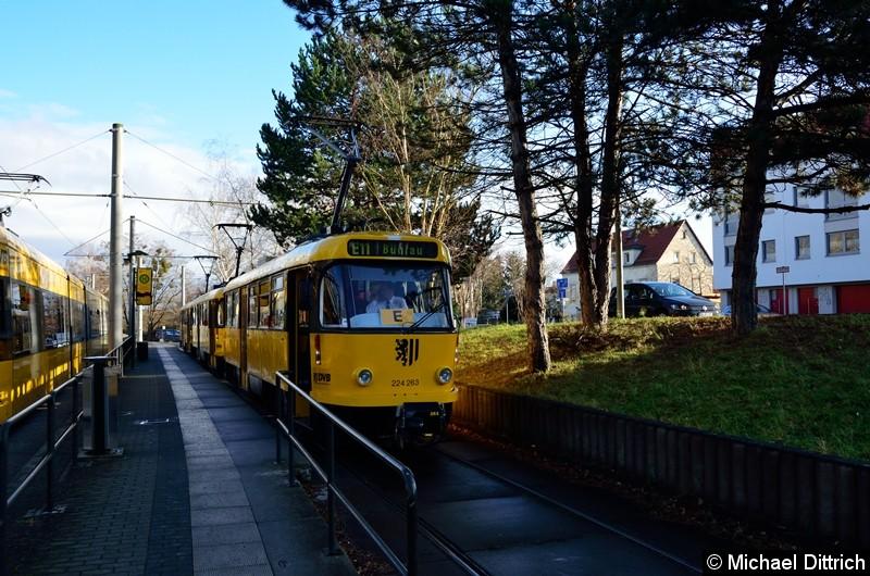 224 263 + 224 265 + 224 217 an der Endstelle Zschertnitz.