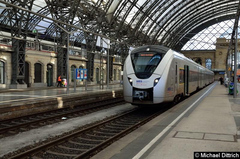 Mit vielen Problemen behaftet: Der Coradia Continental. Der 1440 715 kam gerade aus Hof in Dresden Hbf. an.