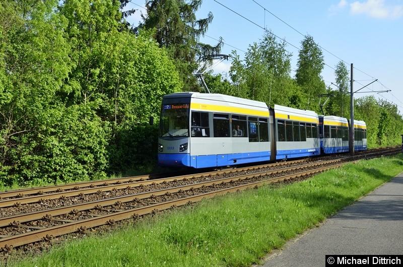 1333 + 1325 als Linie 7 zwischen den Haltestellen Strabf. Paunsdorf und Am Vorwerk.