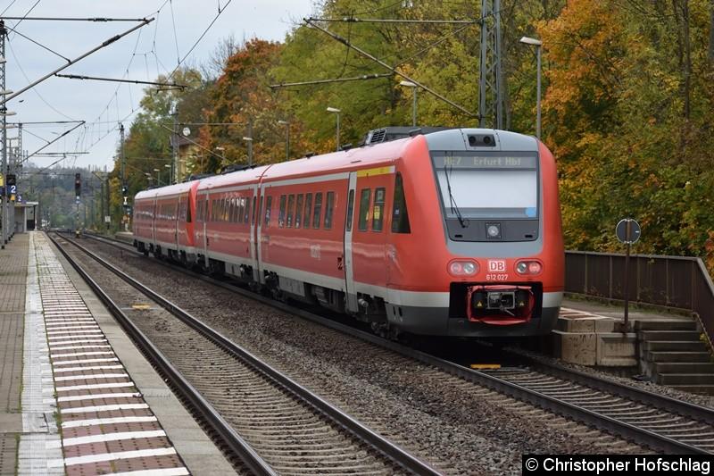 612 027+612 523 bei Durchfahrt in Erfurt Bischleben