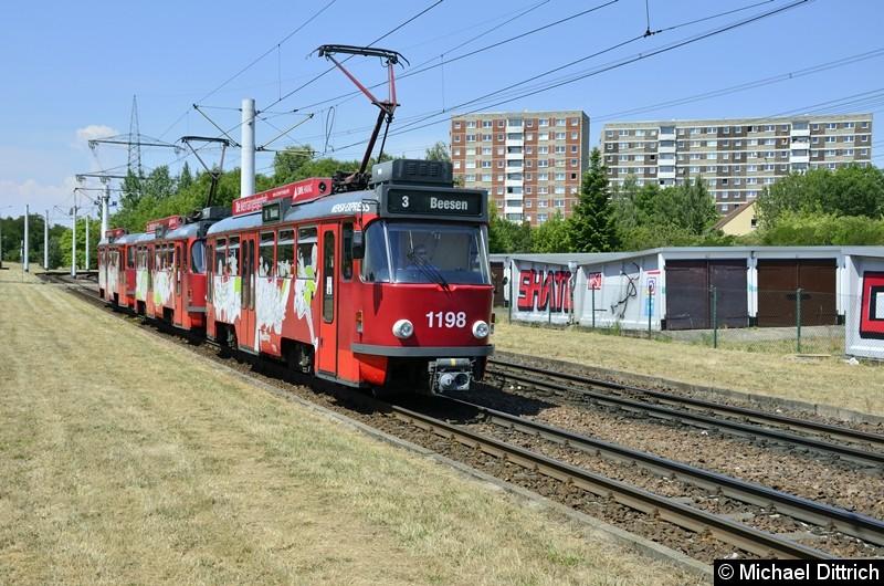 1198 + 1160 + 195 als Linie 3 kurz vor der Endstelle Beesen.