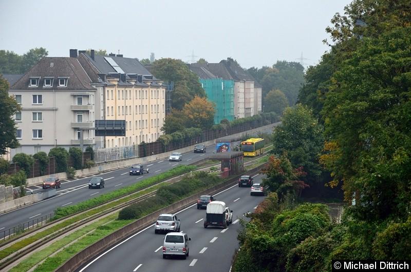 Der Bus 4672 als Linie 146 in der Haltestelle Oberschlesienstraße.