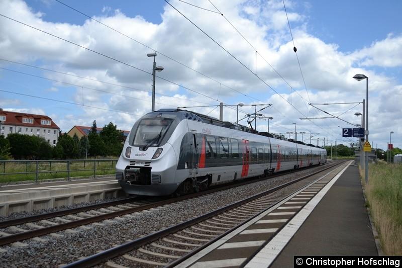 9442 604-6 bei der Einfahrt in den Bahnhof Erfurt-Vieselbach