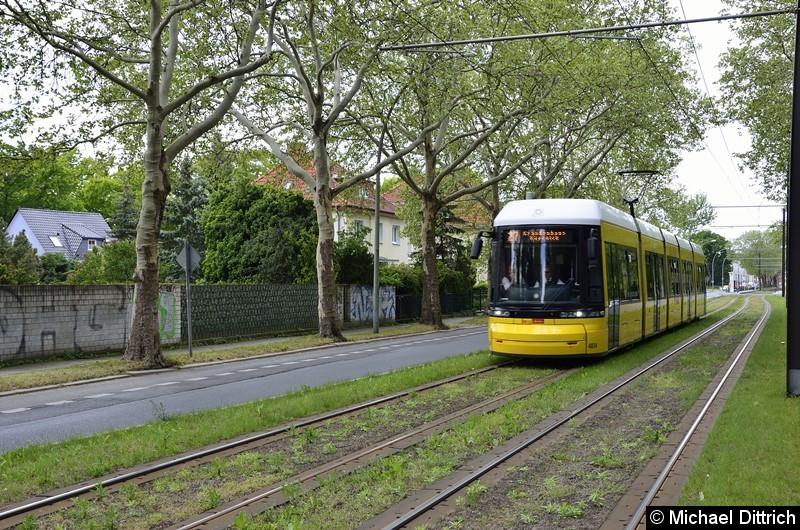 F6Z 4034 als Linie 27 in der Suermondstraße kurz hinter dem Stadion Buschallee.