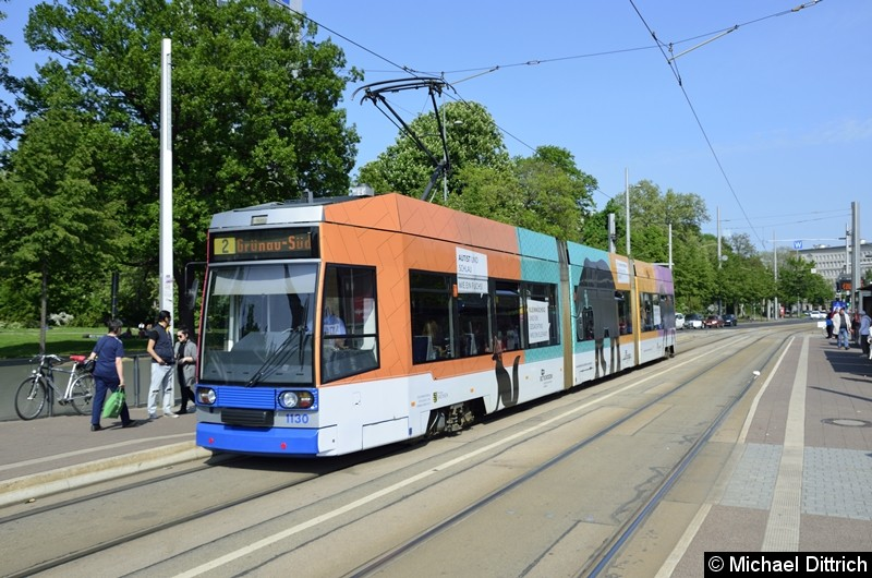 1130 als Linie 2 am Wilhelm-Leuschner-Platz.