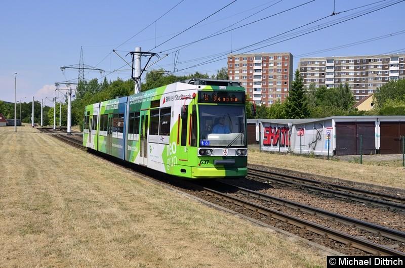 637 als Linie 16 kurz vor der Endstelle Beesen.