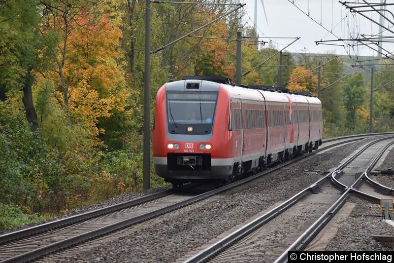 612 523+612 027 bei der Durchfahrt in Erfurt Bischleben.