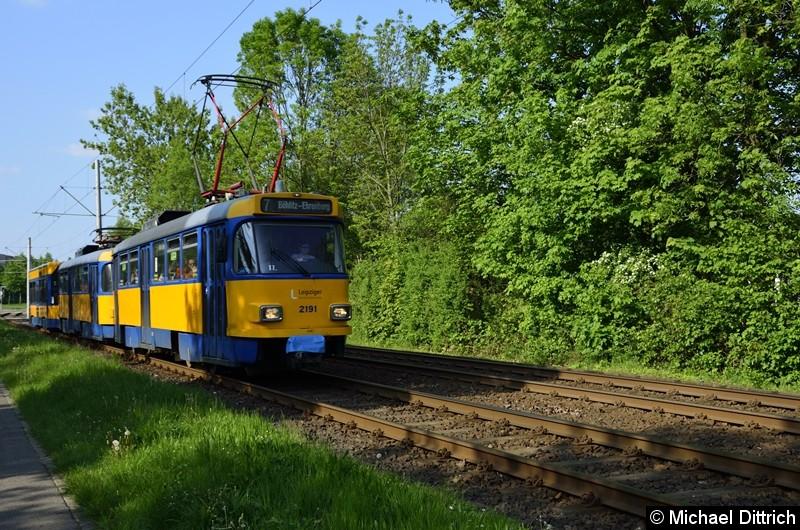 2191 + 2192 + 941 als Linie 7 zwischen den Haltestellen Am Vorwerk und Strabf. Paunsdorf.
