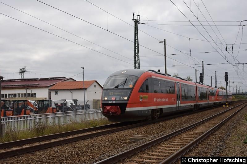 642 195+642 233 bei der Durchfahrt in Erfurt Ost
