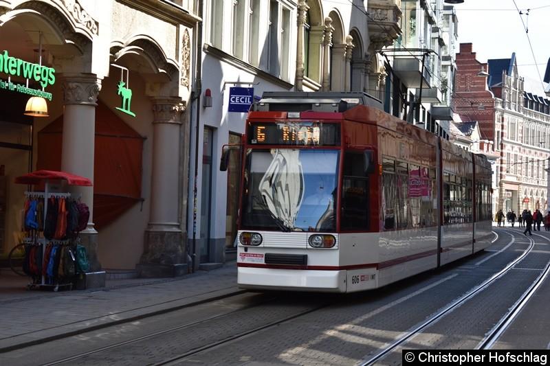 TW 606 als Linie 6 in Richtung Rieth in der Schlösserstraße