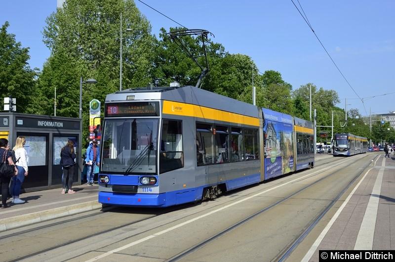 1114 als Linie 10 am Wilhelm-Leuschner-Platz.