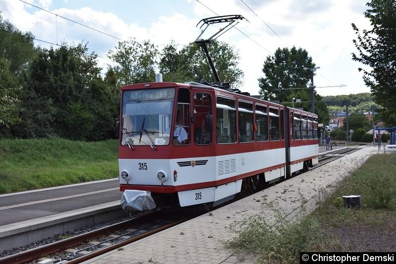 TW 315 am Gleisdreieck Waltershausen